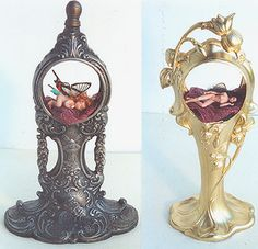 1 inch each, baby fairy and lady fairy in clock , clock fairies | Flickr - Photo Sharing! Michelle Robison robison@henry-net.com  Michelle Robison