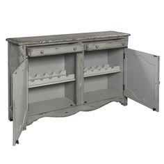 Henriksen Coastal 2 Door Bar Cabinet Door Bar Wood Countertops Adjustable Shelving