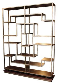 metal and wood bookshelves | Email product to a friend