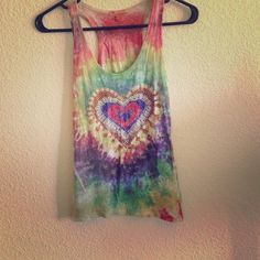 Rasta Tie Dyed Racerback Tank Love this top but I never wear it. Forever 21 Tops Tank Tops