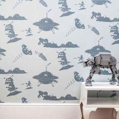 'The Final Frontier' blue wallpaper