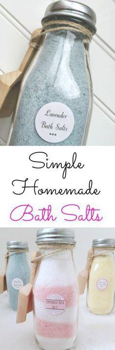 Simple Recipes for Homemade Bath Salts {Free Printables} - Lemons, Lavender, & Laundry