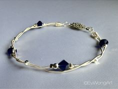 Ideas For Jewerly Making Beads Diy Swarovski Crystals Silver Bracelets, Silver Jewelry, Silver Ring, Guitar String Bracelet, String Bracelets, Diy Fashion Accessories, Simple Necklace, Diy Jewelry, Jewelry Ideas