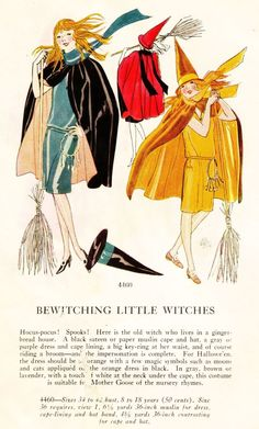 1920's Masquerade Patterns - Bewitching Little Witches
