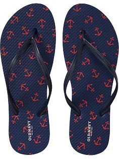We need to go to old navy! Women's Printed Flip-Flops | Old Navy