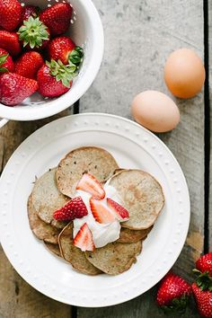 Save Money This Week: Make These Quick & Healthy Meals At Home #refinery29  http://www.refinery29.com/simply-real-health-recipes-cookbook#slide-1  Almost-Too-Simple PancakesMakes approximately 8 medium pancakesThese almost-too-simple and healthy pancakes are great served with natural peanut or almond butter, homemade whipped cream, berries, sliced bananas, seasonal fruit, or a drizzle of maple syrup or honey. Ingredients:1 large ripe banana2 eggs1/4 tsp baking powder1/4 tsp cinnamonButter or…