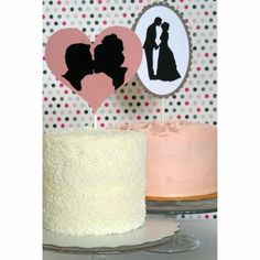DIY Silhouette Cake Toppers - Blog - Indianapolis Wedding Planners