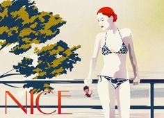 Swimwear Postcard Gucci Style by Malike Favre