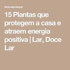 15 Plantas que protegem a casa e atraem energia positiva   Lar, Doce Lar