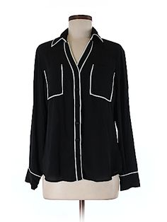 Express Women Long Sleeve Button-Down Shirt Size M
