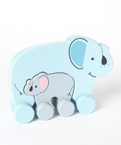 Look at this Elephants Wooden Push Toy Set on #zulily today!