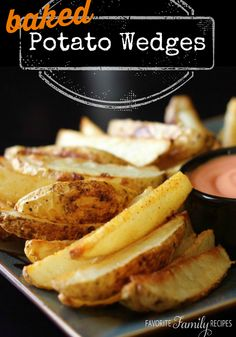 We make these potato wedges as a side dish almost every time we are grilling meat. They are so good and much more healthy than frying. #potatowedges #bakedpotatowedges