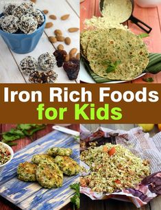 Babies, Toddler and Kids Iron Rich Foods and Recipes, Tarla Dalal - Healthy Eating İdeas For Exercise Healthy Vegan Snacks, Diet Snacks, Healthy Meals For Kids, Clean Eating Snacks, Healthy Dinner Recipes, Kids Meals, Healthy Eating, Lunch Box Recipes, Foods With Iron