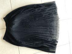 Pleated Elastic Waist Tulle Skirt   SHEIN USA Elastic Waist Skirt, Tulle Skirts, Black Mesh, Leather Skirt, Usa, Fashion, Moda, Leather Skirts, Fashion Styles