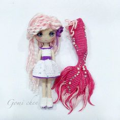 Mia the Mermaid Crochet Amigurumi Doll Pattern PDF Kawaii Crochet, Crochet Disney, Crochet Art, Crochet Animals, Crochet Toys, Crochet Dolls Free Patterns, Crochet Doll Pattern, Doll Patterns, Crochet Mermaid