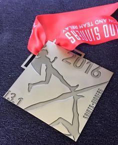 Saints & Sinners Half Marathon in Las Vegas, Nevada - 2016 bling photos - half marathon medal photos taken by Fifty States Half Marathon Club members www.50stateshalfmarathonclub.com