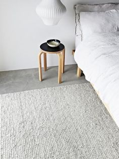 The Chalk, Sierra Weave Floor Rug by Armadillo is hand woven under Fair Trade conditions in India. Made from Wool, Viscose. Available Sizes• 1.4 (W) x 2.0m (L)•