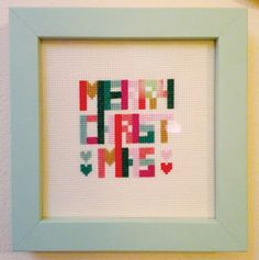 Christmas cross stitch pattern - Geometric Christmas - http://etsy.me/1PQbTB2