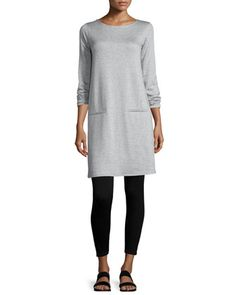 Long-Sleeve Fleece Tunic & Leggings, Women's by Eileen Fisher at Neiman Marcus.