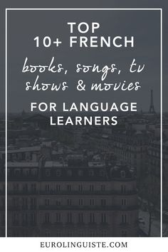 French Books, Songs, TV Shows, and Films to Improve Your French Language Skills When we hit that intermediate stage of our learning, we're often told that now's the time to start switching over to native source material and to step away from resources French Language Lessons, French Language Learning, Learn A New Language, French Lessons, Spanish Lessons, Spanish Language, German Language, Spanish Class, French Articles