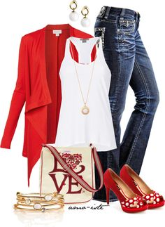 """""""Gold and Red"""" by amo-iste on Polyvore"""
