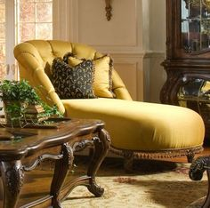Palais Royale Tufted Chaise  Available at homegallerystores.com