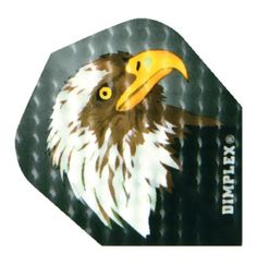Red Dragon Owl Poly Met Extra Thick Standard Set of 3 Dart Flights 100 Micron