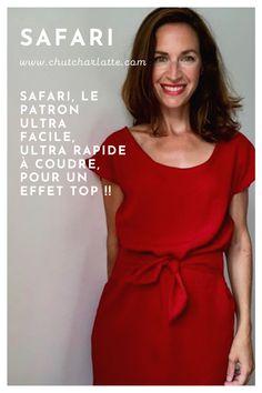 SAFARI, le patron ultra facile, ultra rapide à coudre, pour un effet top !! www.chutcharlotte.com Chut Charlotte, Safari, One Shoulder, Blouse, Collection, Tops, Women, Fashion, Tank Top Dress