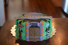 Jurassic world cake jurassicworld my cakes pinterest cake birthdays and dinosaur cake - Jurassic park builder decorations ...