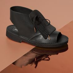 Desert boot, good.   Open toe, good.   Tassels, good.