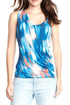 """A pair with anything top! The Keegan top is made from modal spandex which provides a flattering and ultra soft fit. Features and open center back and front shirring.  Length: 25"""" Center front length  Keegan Tank Top by Tart Collections. Clothing - Tops - Tees & Tanks Clothing - Tops - Sleeveless Texas"""