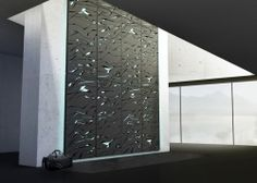 I want this wall @ my house! Looks like a minimalist climbing experience! NOVA - Boulder trainer by LUNAR Europe. NOVA is a personal climbing wall that challenges the design expression of exercise equipment. Indoor Climbing Wall, Rock Climbing, Climbing Holds, Bouldering Wall, Indoor Bouldering, Rock Wall, Wall Design, Design Room, Wall Decor