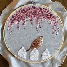 Cute, birdy on a fence by Rachel Winters Sewing. From Inspirations Magazine post on Facebook.