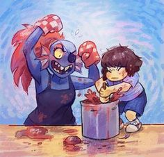 Undertale   Cooking with Undyne