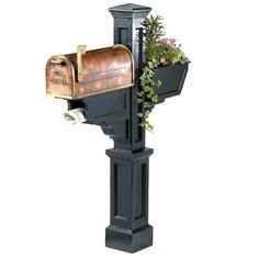 Signature Plus Mail Post with Flower Box
