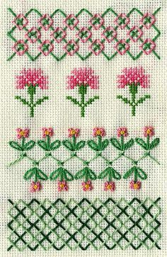 Discover thousands of images about running stitch Blackwork Patterns, Blackwork Embroidery, Embroidery Sampler, Cross Stitch Embroidery, Embroidery Stitches Tutorial, Hand Embroidery Patterns, Embroidery Techniques, Embroidery Designs, Cross Stitch Borders