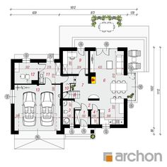 Dom w tamaryszkach 2 Floor Plans, Floor Plan Drawing, House Floor Plans