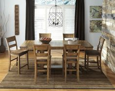Krinden 7pc Counter Height Table Set