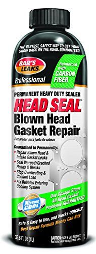 Bar's Leak HG-1 HEAD SEAL Blown Head Gasket Repair - Bar's Leaks Head Gasket and Cooling Sealant repairs blown head and intake gasket leaks. Seals cracked cylinder heads and blocks. Stops heater core and radiator leaks. Fixes leaking freeze and core plugs.