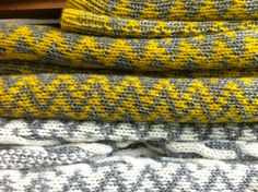 Cable and Fairisle blankets from Aran Ambitions collection A/W 2014