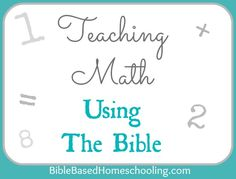 This is an interesting suggestion, but you could flip it.....Teach the Bible using math to engage learners who enjoy it!  Some great ideas/activities.