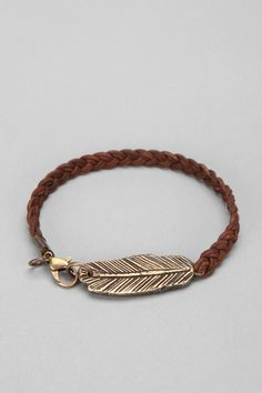 Curved Feather Bracelet  #UrbanOutfitters