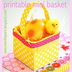 Free printable mini easter basket - ausdruckbarer Osterkorb - freebie | MeinLilaPark – DIY printables and downloads