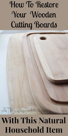 Restore Your Wooden Cutting Board