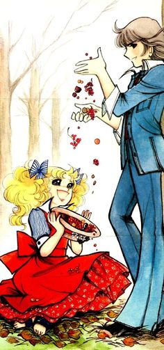 Candy y Terry by Yumiko Igarashi color sleeve ✤ Old Anime, Anime Manga, Betty Boop, Candy Y Terry, Et Wallpaper, Cartoon Caracters, Candy Lady, Candy Pictures, Dulce Candy