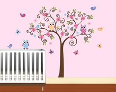Nursery Tree with Pattern Owls and BirdsKids by NurseryWallArt, $89.99