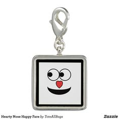 Hearty Nose Happy Face Key Ring Bag Chain