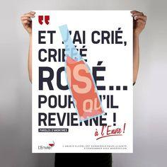 """Wine poster """"L'envie / Rosé"""" by L_st - 2014"""