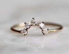 Half Circle Diamond Band #fineweddingrings #weddingrings
