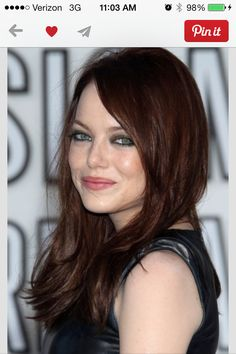 emma stone dark auburn hair color